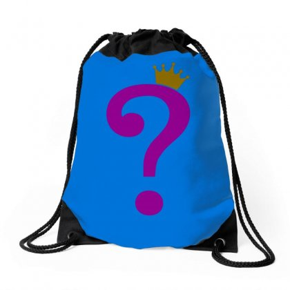 Riddle Me This King Drawstring Bags Designed By Butterfly99