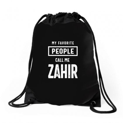 Gift For Zahir First Name T-shirt Drawstring Bags Designed By Cidolopez