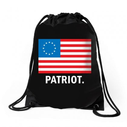 Patriot Betsy Ross Flag Drawstring Bags Designed By Viral Style