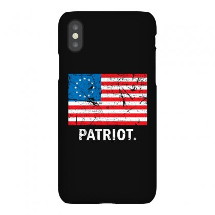Vintage Patriot Betsy Ross Flag Iphonex Case Designed By Bpn Inside