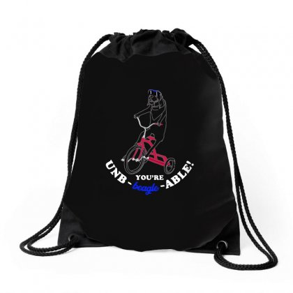 Believe In Dog Drawstring Bags Designed By Arsyad