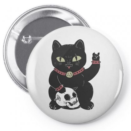 Black Cat Pin-back Button Designed By Arsyad