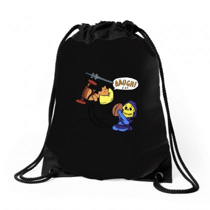 Blockheads Of The Universe Drawstring Bags Designed By Arsyad