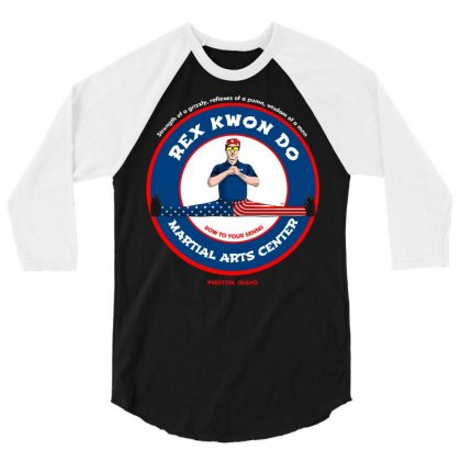 Bow To Your Sensei Martial Arts Center 3/4 Sleeve Shirt Designed By Arsyad