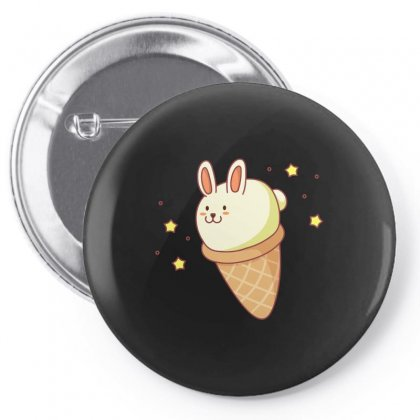 Bunny Lla Ice Cream Pin-back Button Designed By Arsyad