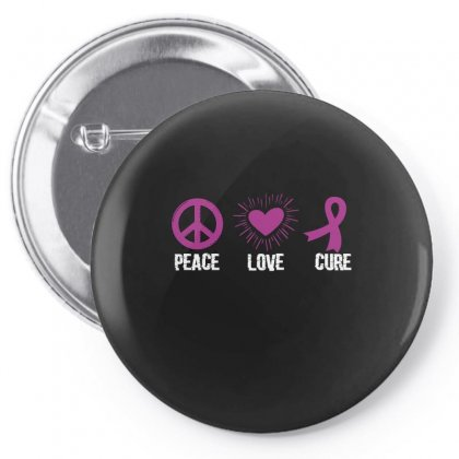 Peace Love Cure Pin-back Button Designed By Wizarts