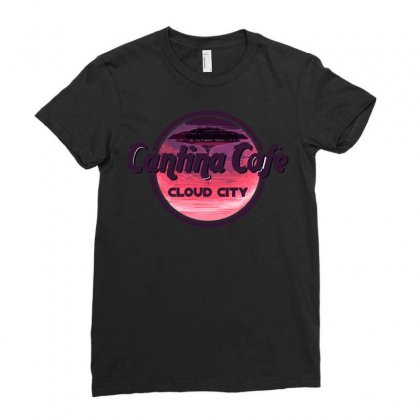 Cantina Cafe Cloud City Ladies Fitted T-shirt Designed By Arsyad