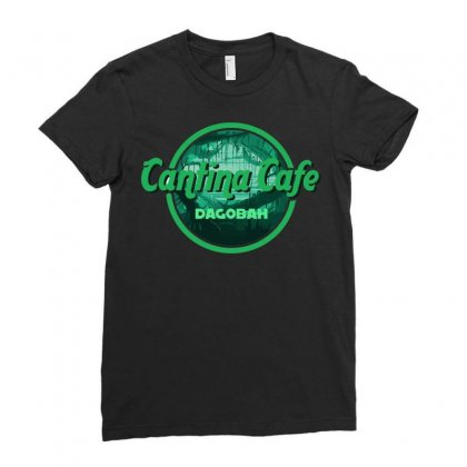 Cantina Cafe Dagobah Ladies Fitted T-shirt Designed By Arsyad