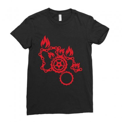 Bike Logo Ladies Fitted T-shirt Designed By Wizarts