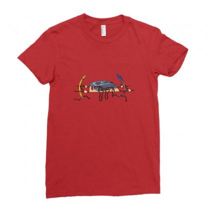 Cassette Rescue! Ladies Fitted T-shirt Designed By Arsyad