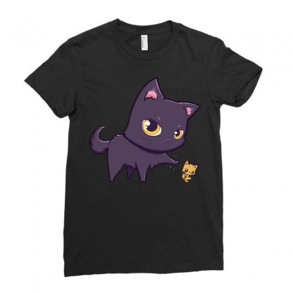Cat Hates Kitty Cats Ladies Fitted T-shirt Designed By Arsyad