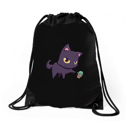 Cat Hates Spiky Plants Drawstring Bags Designed By Arsyad