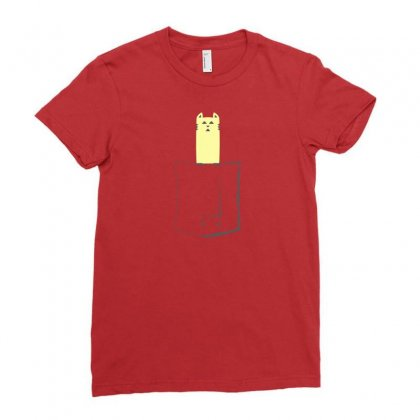 Cat In My Pocket Ladies Fitted T-shirt Designed By Arsyad
