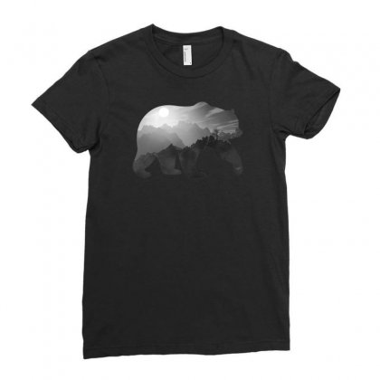 Wild Bear Ladies Fitted T-shirt Designed By Gurkan