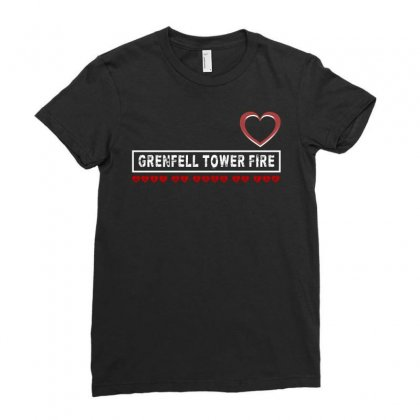 Grenfell Tower Fire Ladies Fitted T-shirt Designed By Animestars