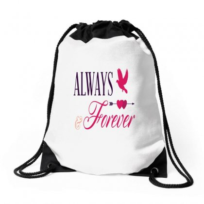 Always And Forever Bird Drawstring Bags Designed By Perfect Designers