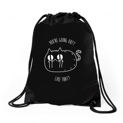 Catty Remarks Drawstring Bags Designed By Arsyad