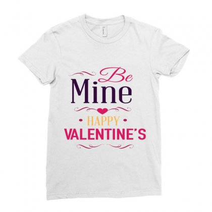 Be Mine Happy Valentine Ladies Fitted T-shirt Designed By Perfect Designers
