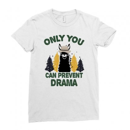 Only You Can Prevent Drama For Dark Ladies Fitted T-shirt Designed By Sengul