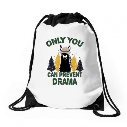 Only You Can Prevent Drama For Dark Drawstring Bags Designed By Sengul