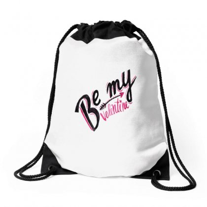 Be My Valentine Arrow Drawstring Bags Designed By Perfect Designers