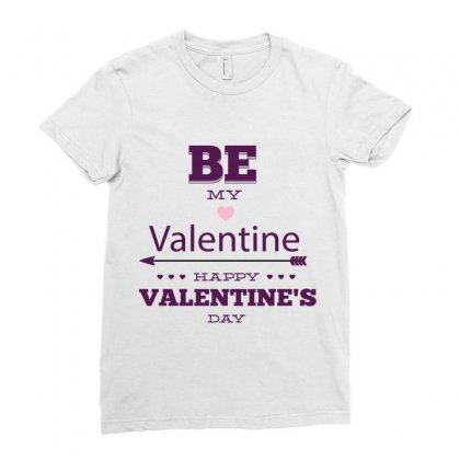 Be My Valentine Ladies Fitted T-shirt Designed By Perfect Designers
