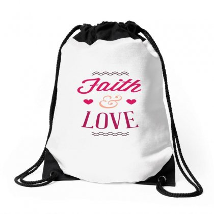 Faith And Love Drawstring Bags Designed By Perfect Designers