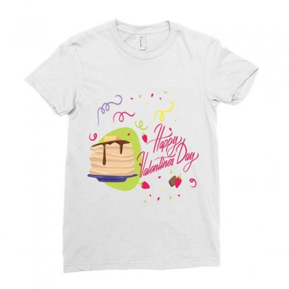 Happy Valentines (1) Ladies Fitted T-shirt Designed By Perfect Designers