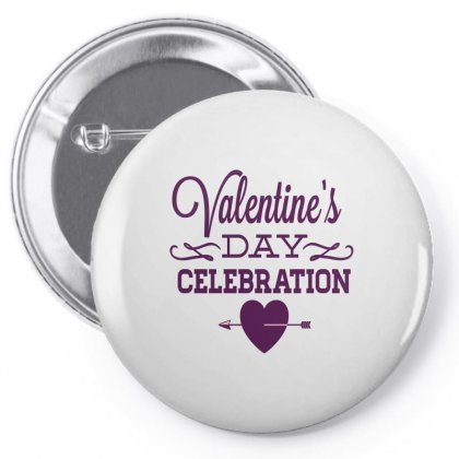 Happy Valentines Day Celebration Pin-back Button Designed By Perfect Designers