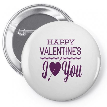 Happy Valentines Day I Love You Pin-back Button Designed By Perfect Designers