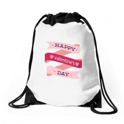 Happy Valentines Day Drawstring Bags Designed By Perfect Designers
