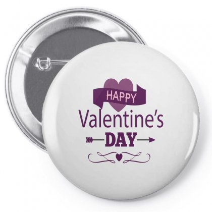 Happy Valentines Heart Pin-back Button Designed By Perfect Designers