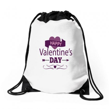 Happy Valentines Heart Drawstring Bags Designed By Perfect Designers