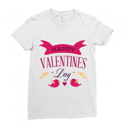 Happy Valentines Ladies Fitted T-shirt Designed By Perfect Designers
