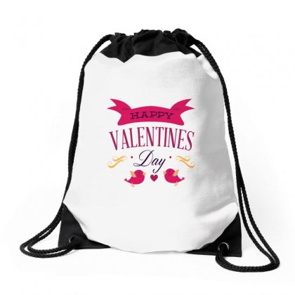 Happy Valentines Drawstring Bags Designed By Perfect Designers