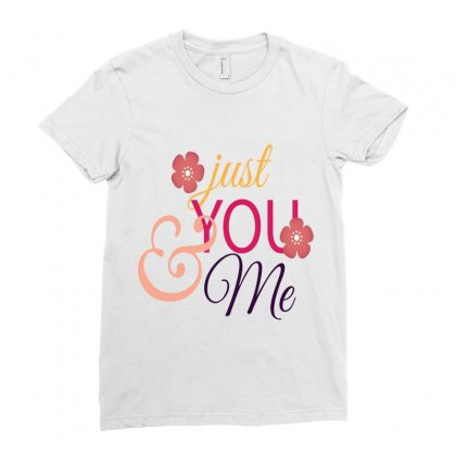 Just You And Me Ladies Fitted T-shirt Designed By Perfect Designers