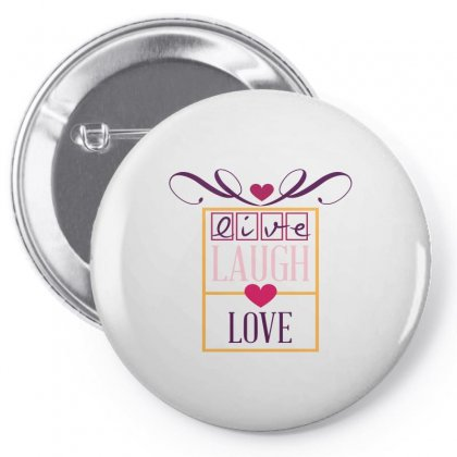 Live Laugh Love Heart Pin-back Button Designed By Perfect Designers