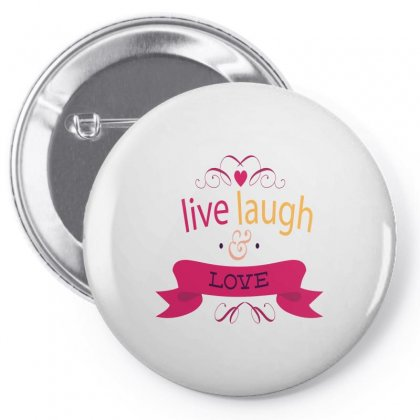 Live Laugh Love Pin-back Button Designed By Perfect Designers