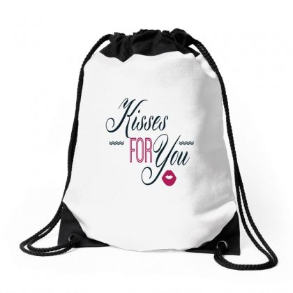 Kisses For You Drawstring Bags Designed By Perfect Designers