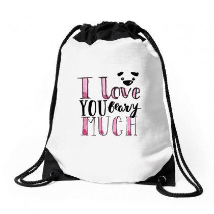 Love You Beary Much Drawstring Bags Designed By Perfect Designers