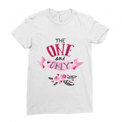 The One And Only Ladies Fitted T-shirt Designed By Perfect Designers