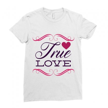 True Love Ladies Fitted T-shirt Designed By Perfect Designers