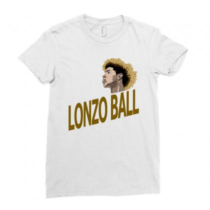 Lonzo Ball Ladies Fitted T-shirt Designed By Animestars