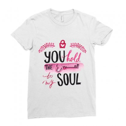 You Hold The Key To My Soul Ladies Fitted T-shirt Designed By Perfect Designers