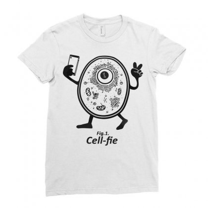 Cell Fie Ladies Fitted T-shirt Designed By Arsyad
