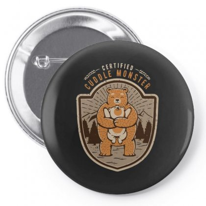 Certified Cuddle Monster Pin-back Button Designed By Arsyad