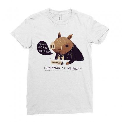 Chairman Of The Boar Ladies Fitted T-shirt Designed By Arsyad