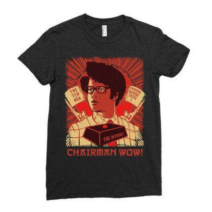 Chairman Wow Ladies Fitted T-shirt Designed By Arsyad