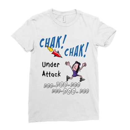 Chak! Chak!   Under Attack Ladies Fitted T-shirt Designed By Arsyad