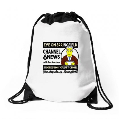Channel 6 News Drawstring Bags Designed By Arsyad